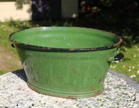 Small Green Enamel Tub #151