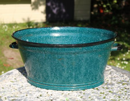 Small Teal Enamel Tub #152