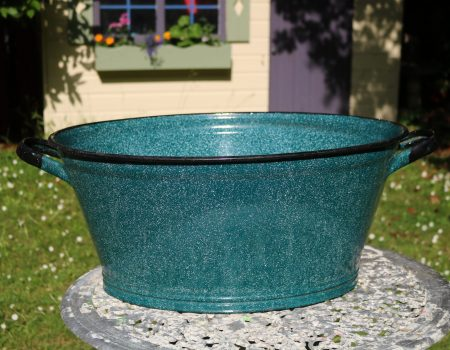 Enamel Teal Oval Tub #156