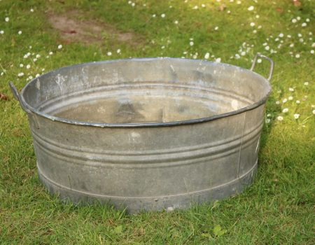 Galvanised Round Shallow Tub #29