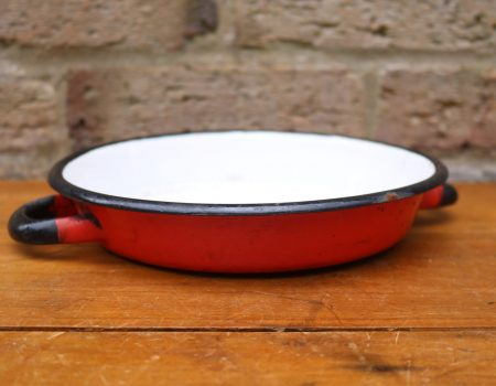 Enamel Red Saucer #2