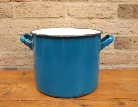 Enamel Blue Pot #4