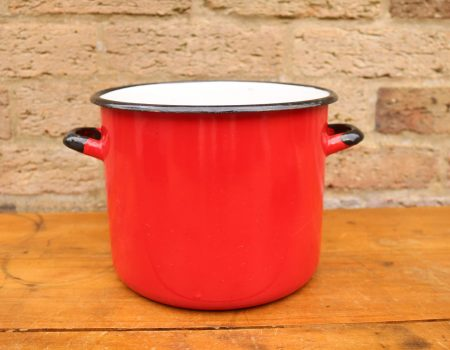 Enamel Red Pot #5