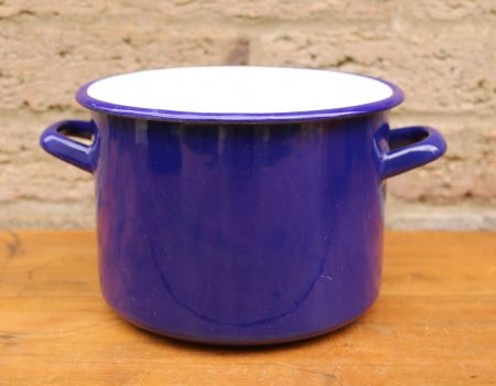Enamel Blue Pot #6