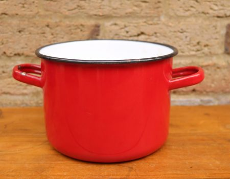 Enamel Red Pot #7