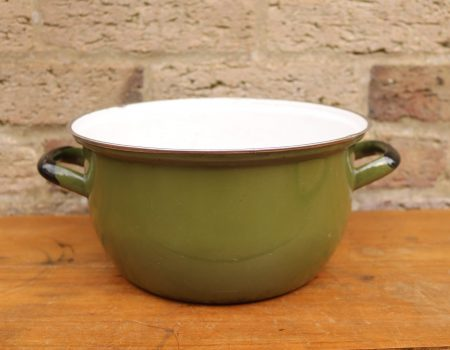 Enamel Green Pot #9