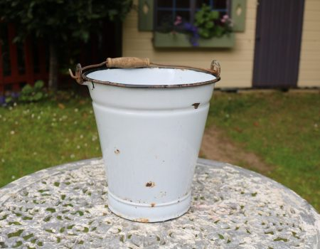 Small Enamel Bucket #13