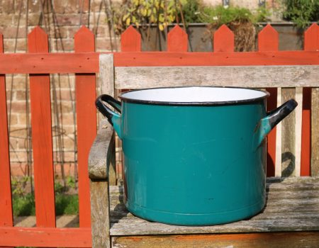 Teal Enamel Tub #166