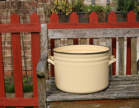 Yellow Enamel Tub #167
