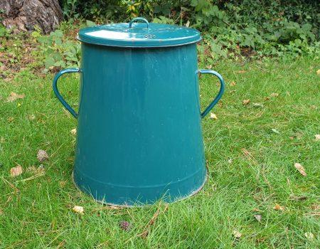 Enamel Compost Bin #12