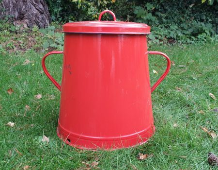 Enamel Compost Bin #13