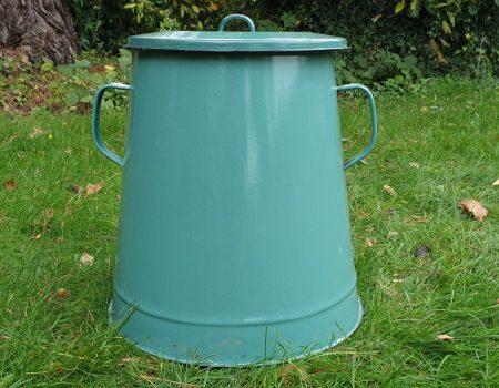 Enamel Compost Bin #15