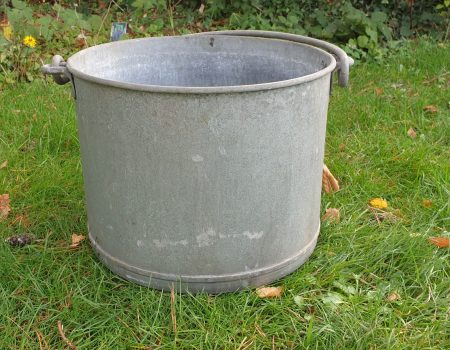 Round Galvanised Tub #236