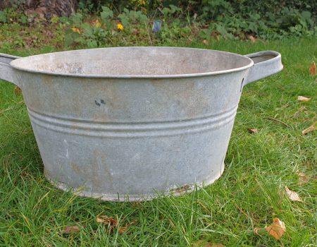 Round Galvanised bowl #240