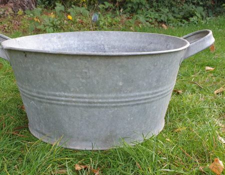 Round Galvanised bowl #241