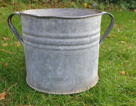 Round Galvanised Tub #243