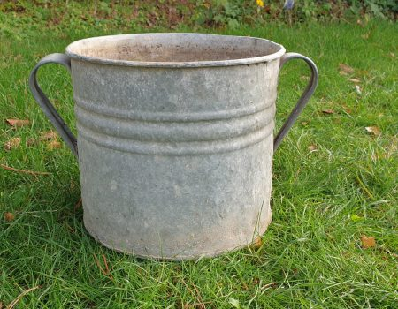 Round Galvanised Tub #245