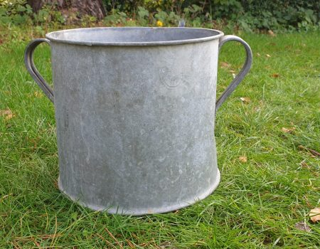 Round Galvanised Tub #246