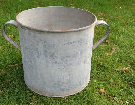 Round Galvanised Tub #250