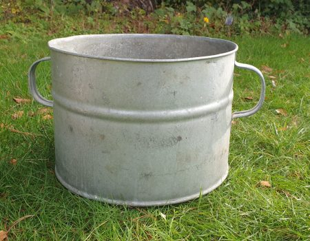 Round Galvanised Tub #251
