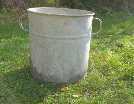 Round Galvanised Tub #254