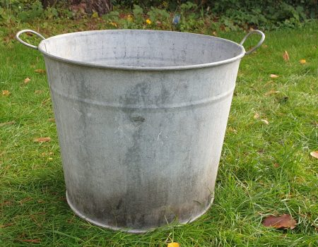 Round Galvanised Tub #259