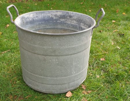 Round Galvanised Tub #260