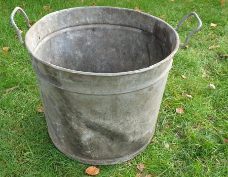 Round Galvanised Tub #261
