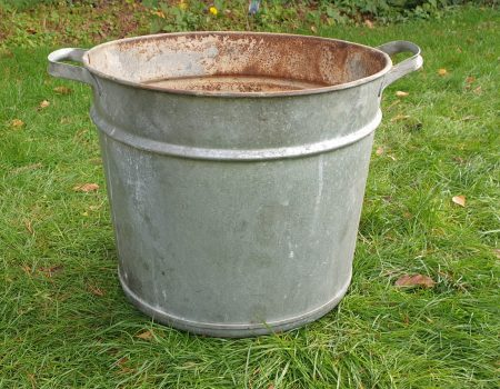 Round Galvanised Tub #262