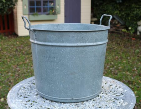 Round Galvanised Tub #203