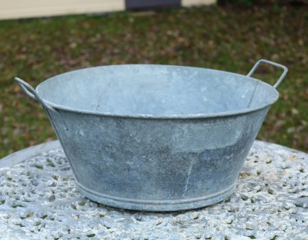 Round Galvanised bowl #1