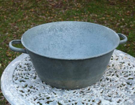 Round Galvanised bowl #2