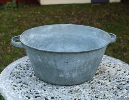 Round Galvanised bowl #3