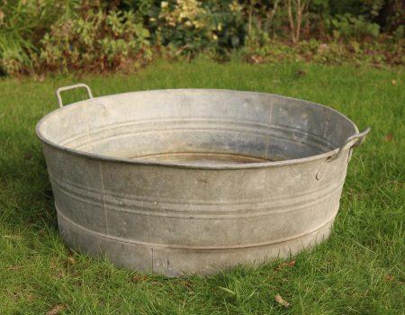 Round Shallow Galvanised Tub #2