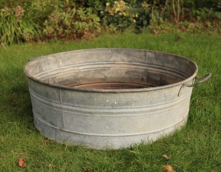 Round Shallow Galvanised Tub #3