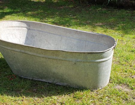 Galvanised Oval Tub #8