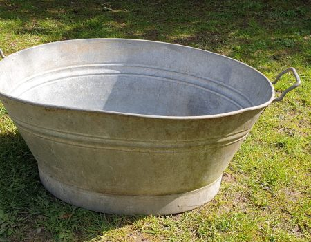 Galvanised Oval Tub #9