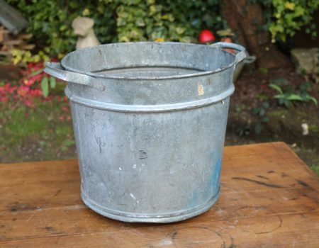 Round Galvanised Tub #35