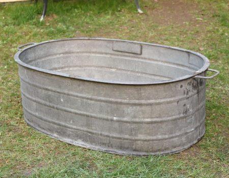 Straight edged oval tub #7