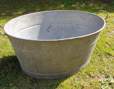 Galvanised Oval Tub #10