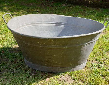 Galvanised Oval Tub #11