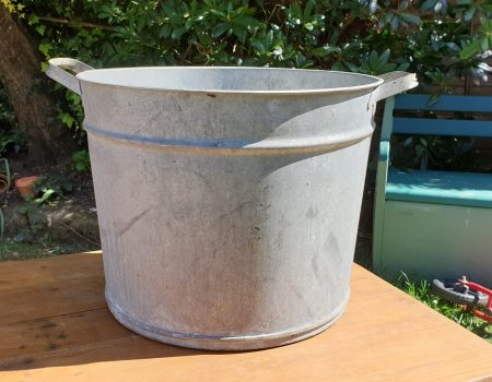 Round Galvanised Tub #56