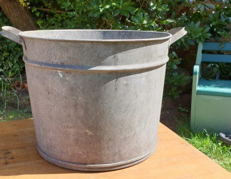 Round Galvanised Tub #57