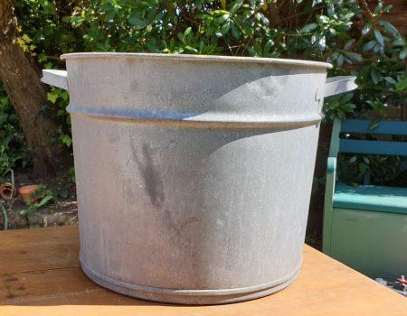 Round Galvanised Tub #59