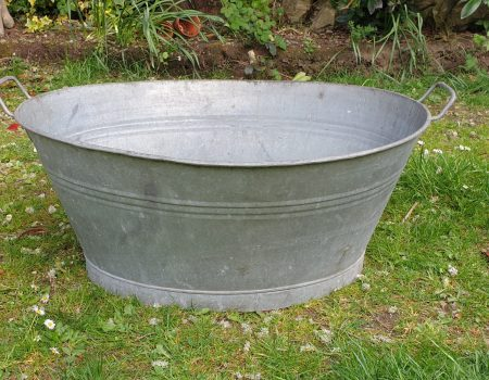 Galvanised Oval Tub #55