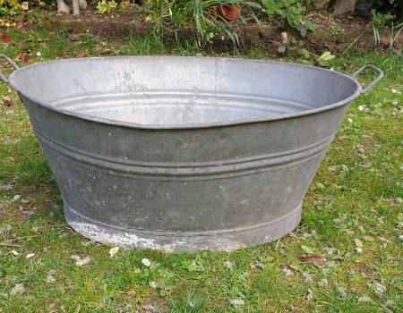 Galvanised Oval Tub #56