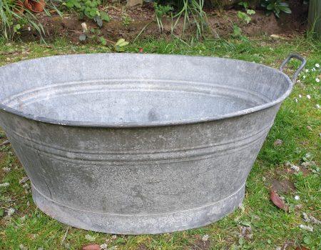 Galvanised Oval Tub #57