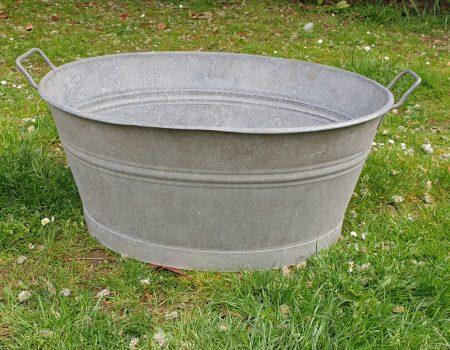 Galvanised Oval Tub #58