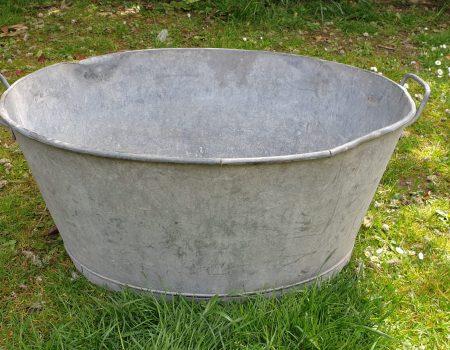 Galvanised Oval Tub #60
