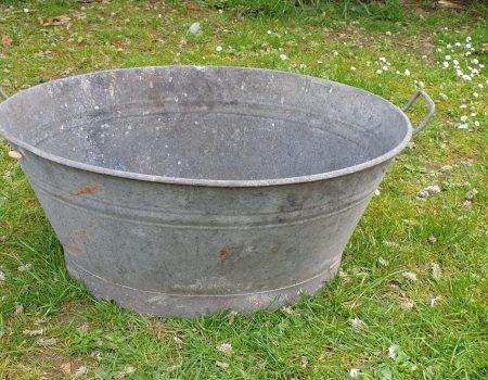 Galvanised Oval Tub #61